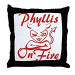 Phyllis On Fire Throw Pillow