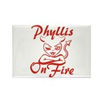 Phyllis On Fire Rectangle Magnet