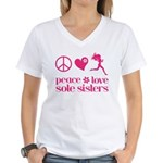 PLSS pink Women's V-Neck T-Shirt
