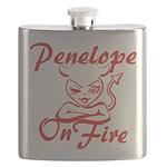 Penelope On Fire Flask