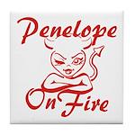 Penelope On Fire Tile Coaster