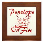 Penelope On Fire Framed Tile