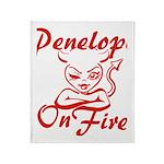 Penelope On Fire Throw Blanket
