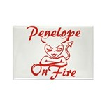 Penelope On Fire Rectangle Magnet