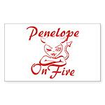 Penelope On Fire Sticker (Rectangle)