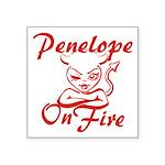Penelope On Fire Square Sticker 3