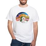 XMusic2 - Bichon Frise White T-Shirt
