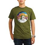 XMusic2 - Bichon Frise Organic Men's T-Shirt (dark