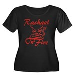 Rachael On Fire Women's Plus Size Scoop Neck Dark