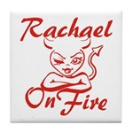 Rachael On Fire Tile Coaster