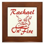 Rachael On Fire Framed Tile