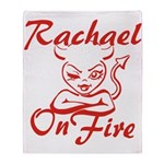 Rachael On Fire Throw Blanket
