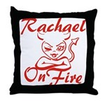 Rachael On Fire Throw Pillow