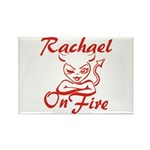 Rachael On Fire Rectangle Magnet
