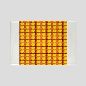 Tennis Ball Artistic Orange 4Harold Magnets
