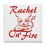 Rachel On Fire Tile Coaster
