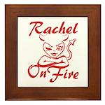Rachel On Fire Framed Tile