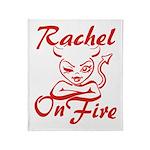 Rachel On Fire Throw Blanket