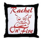 Rachel On Fire Throw Pillow