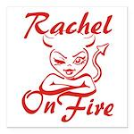 Rachel On Fire Square Car Magnet 3