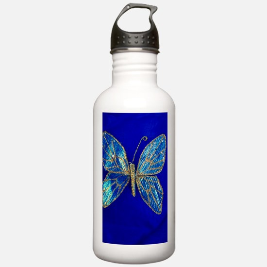Glitter Butterfly Water Bottle