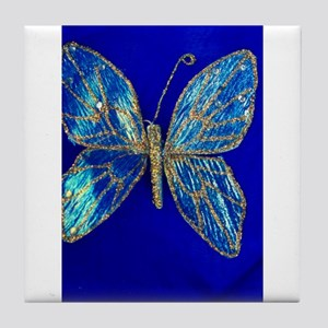 Glitter Butterfly Tile Coaster