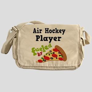 Air Hockey Player Pizza Messenger Bag