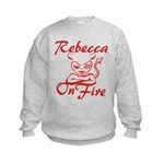 Rebecca On Fire Kids Sweatshirt