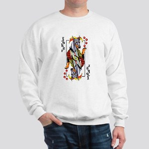 Blk Doberman Joker Sweatshirt