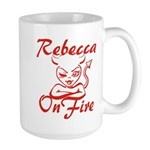 Rebecca On Fire Large Mug