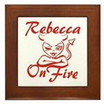 Rebecca On Fire Framed Tile