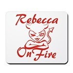 Rebecca On Fire Mousepad