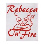 Rebecca On Fire Throw Blanket