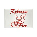 Rebecca On Fire Rectangle Magnet