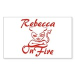 Rebecca On Fire Sticker (Rectangle)