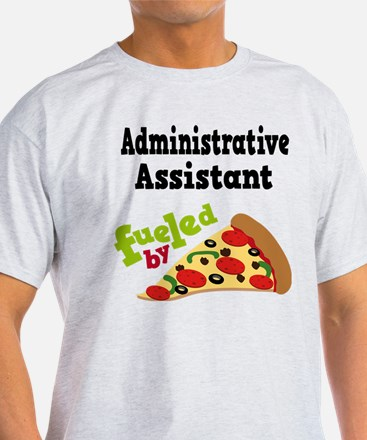 Administrative Assistant Funny Pizza T-Shirt