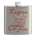 Regina On Fire Flask