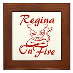 Regina On Fire Framed Tile