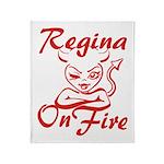 Regina On Fire Throw Blanket