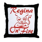 Regina On Fire Throw Pillow