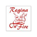 Regina On Fire Square Sticker 3