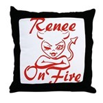 Renee On Fire Throw Pillow