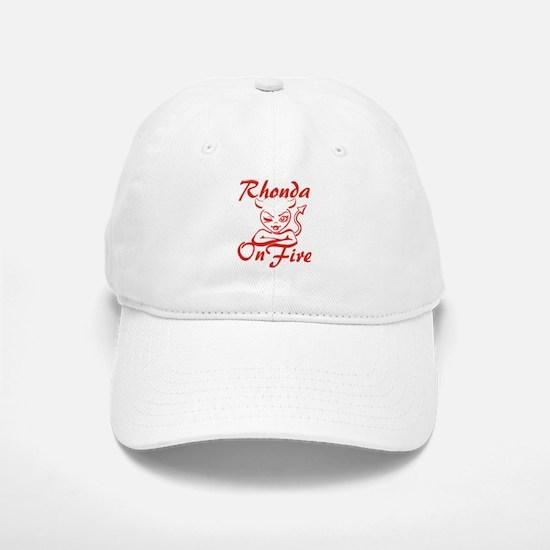 Rhonda On Fire Baseball Baseball Cap