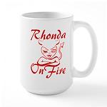 Rhonda On Fire Large Mug