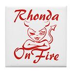 Rhonda On Fire Tile Coaster