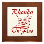 Rhonda On Fire Framed Tile