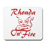 Rhonda On Fire Mousepad