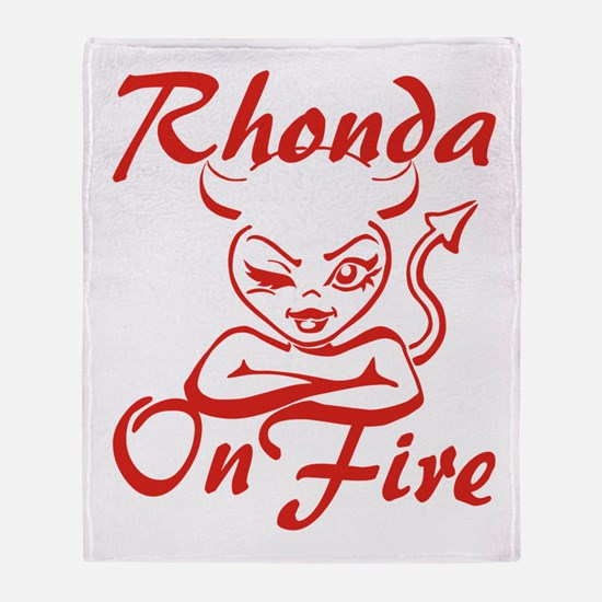 Rhonda On Fire Throw Blanket