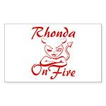 Rhonda On Fire Sticker (Rectangle)