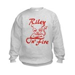 Riley On Fire Kids Sweatshirt